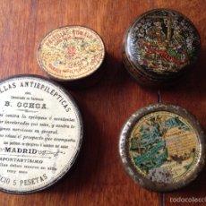 Cajas y cajitas metálicas: CAJITAS METÁLICAS MEDICAMENTOS. Lote 54892531