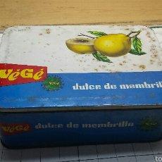 Cajas y cajitas metálicas: CAJA LATA VEGE DULCE MEMBRILLO. Lote 54915438