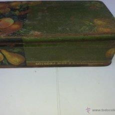 Cajas y cajitas metálicas: CAJA DE CHOCOLATES SOLSONA. Lote 55051684