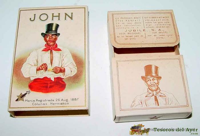 Cajas y cajitas metálicas: ANTIGUA CAJA DE CARTON DE CIGARRILLOS JOHN . MIDE 8,5 X 5,5 X 2 CMS. PRINCIPIOS DE SIGLO - Foto 3 - 38253902