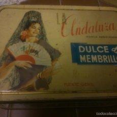 Cajas y cajitas metálicas: * CAJA METALICA DE MEMBRILLO: LA ANDALUZA. Lote 55137962