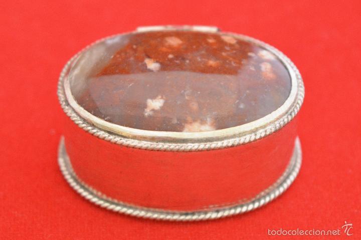 Cajas y cajitas metálicas: CAJITA METALICA EN MINIATURA TAPA EN PIEDRA IONIX - Foto 3 - 55188906