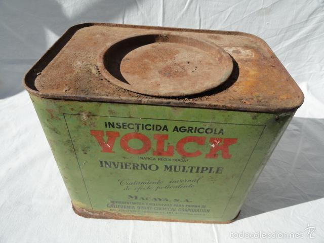 Cajas y cajitas metálicas: ANTIGUA LATA CAJA METÁLICA - VOLCK -. INSECTICIDA AGRÍCOLA. - Foto 2 - 55240556