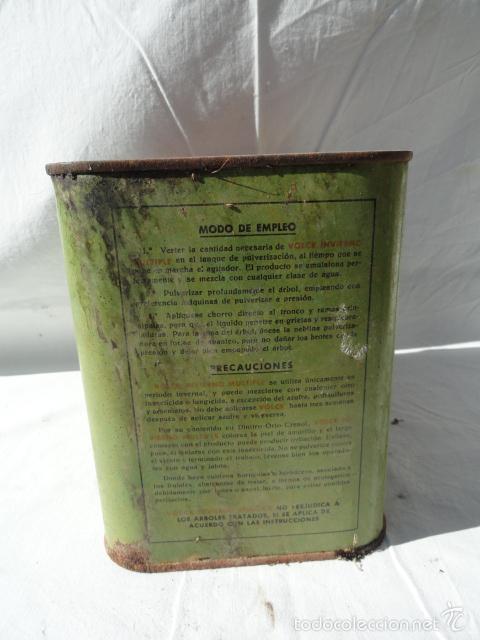 Cajas y cajitas metálicas: ANTIGUA LATA CAJA METÁLICA - VOLCK -. INSECTICIDA AGRÍCOLA. - Foto 3 - 55240556