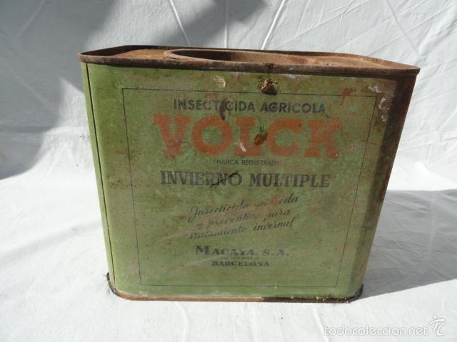 Cajas y cajitas metálicas: ANTIGUA LATA CAJA METÁLICA - VOLCK -. INSECTICIDA AGRÍCOLA. - Foto 4 - 55240556