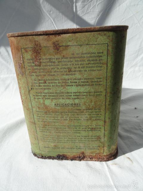 Cajas y cajitas metálicas: ANTIGUA LATA CAJA METÁLICA - VOLCK -. INSECTICIDA AGRÍCOLA. - Foto 5 - 55240556