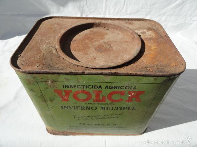 Cajas y cajitas metálicas: ANTIGUA LATA CAJA METÁLICA - VOLCK -. INSECTICIDA AGRÍCOLA. - Foto 7 - 55240556