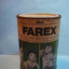 Cajas y cajitas metálicas: ANTIGUO BOTE DE LECHE INFANTIL GLAXO. LATA METAL FAREX. ALIMENTO NIÑOS. CAJA METALICA FEBRERO 1978. Lote 55339306