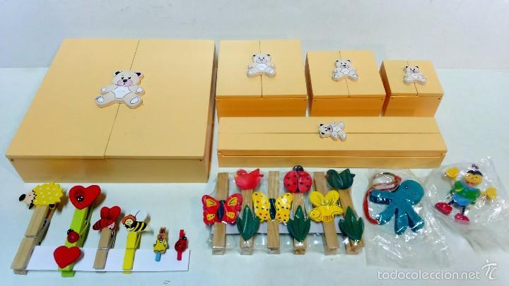 Pac infantil 5 cajas decoradas pinzas decora comprar cajas antiguas y cajitas met licas en - Cajas infantiles decoradas ...