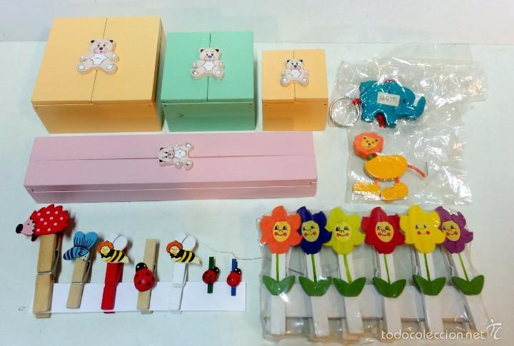 Pac infantil 4 cajas decoradas pinzas de mad comprar cajas antiguas y cajitas met licas en - Cajas infantiles decoradas ...