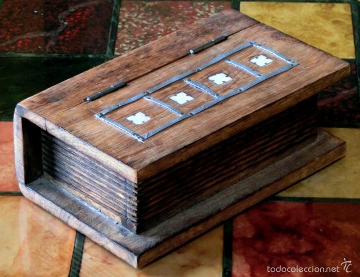 Caja de madera con decoraci n met lica forma comprar cajas antiguas y cajitas met licas en - Comprar cajas de madera para decorar ...