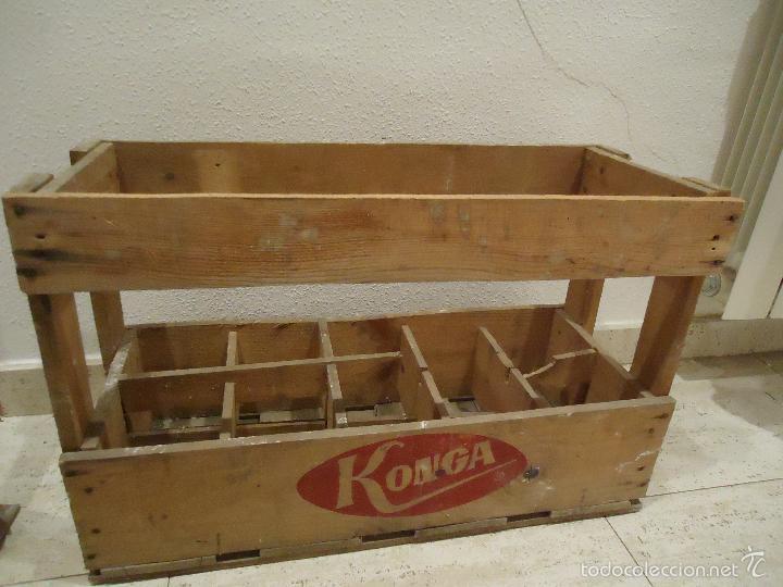 Caja de madera gaseosas konga comprar cajas antiguas y cajitas met licas en todocoleccion - Cajas de madera online ...