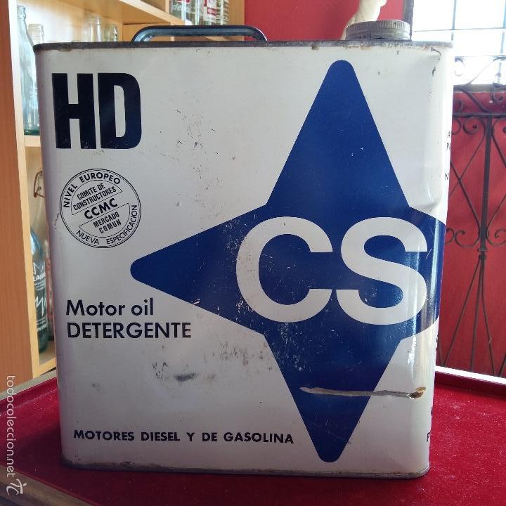 Cajas y cajitas metálicas: LATA DE MOTOR OIL DETERGENTE, ACEITE, 5 LITROS. 27 CM DE ALTO HASTA EL TAPON - Foto 3 - 55708673