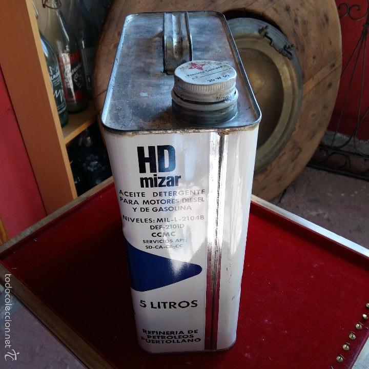 Cajas y cajitas metálicas: LATA DE MOTOR OIL DETERGENTE, ACEITE, 5 LITROS. 27 CM DE ALTO HASTA EL TAPON - Foto 4 - 55708673