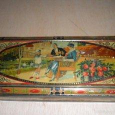 Blechdosen und Kisten - Preciosa caja de chocolates EXQUIS de LA SUISSE - 55821303