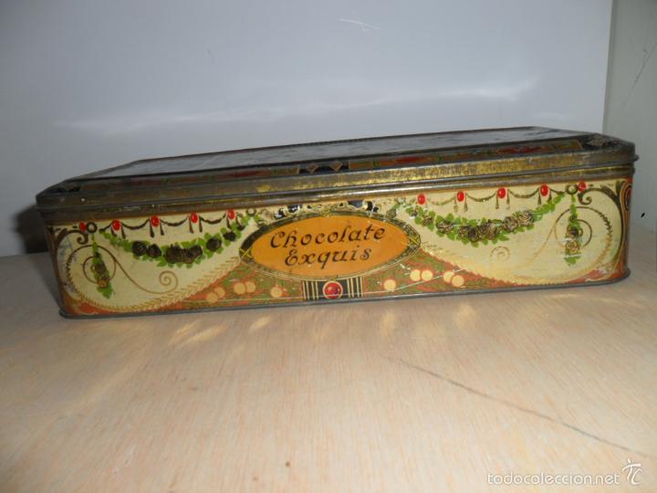 Cajas y cajitas metálicas: Preciosa caja de chocolates EXQUIS de LA SUISSE - Foto 3 - 55821303