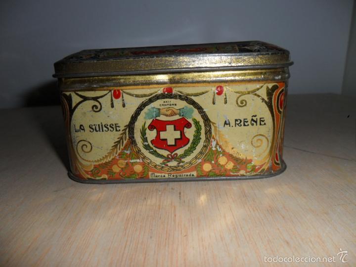 Cajas y cajitas metálicas: Preciosa caja de chocolates EXQUIS de LA SUISSE - Foto 4 - 55821303