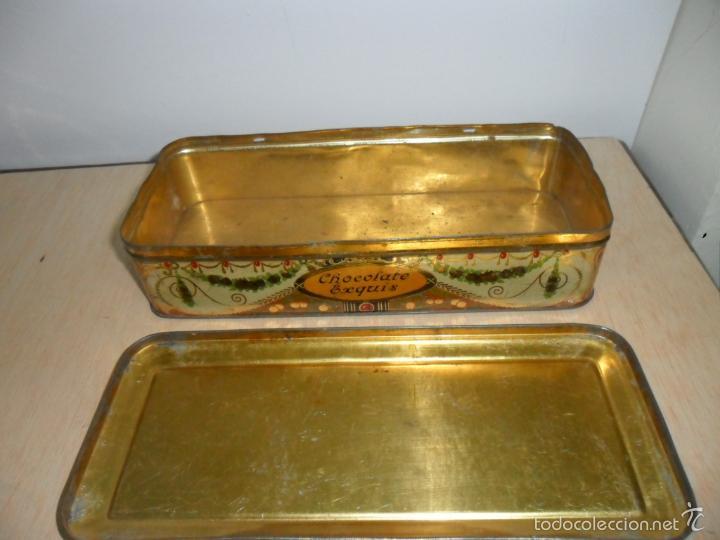 Cajas y cajitas metálicas: Preciosa caja de chocolates EXQUIS de LA SUISSE - Foto 5 - 55821303