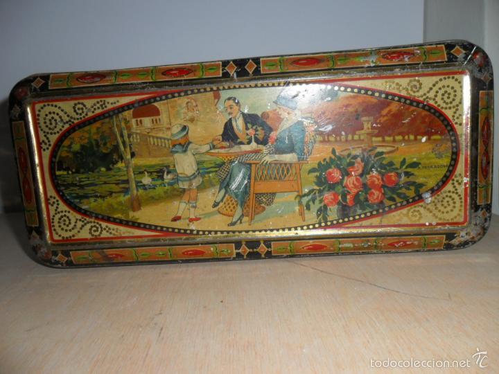 Cajas y cajitas metálicas: Preciosa caja de chocolates EXQUIS de LA SUISSE - Foto 6 - 55821303