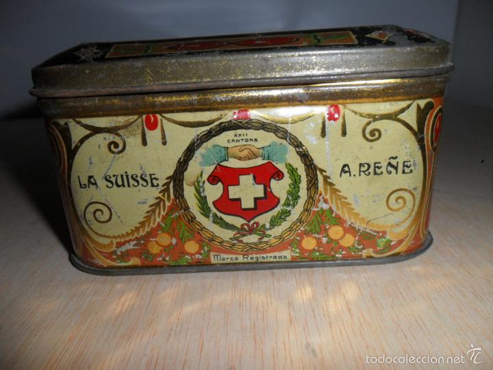 Cajas y cajitas metálicas: Preciosa caja de chocolates EXQUIS de LA SUISSE - Foto 7 - 55821303