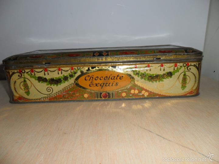 Cajas y cajitas metálicas: Preciosa caja de chocolates EXQUIS de LA SUISSE - Foto 8 - 55821303