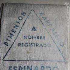Cajas y cajitas metálicas: LOTE DE 3 SACOS PARA PIMENTÓN. Lote 55821315