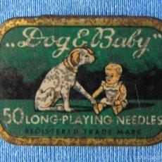 Blechdosen und Kisten - DOG & BABY. CAJA DE AGUJAS PARA GRAMÓFONO CON MÁS DE 30 AGUJAS. ALEMANIA - 56096466