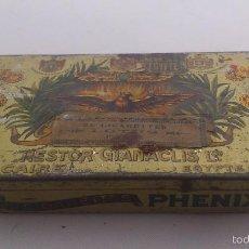 Cajas y cajitas metálicas: ANTIGUA CAJA CHAPA 25 CIGARETTES, NESTOR GIANACLIS, CAIRE - EGYPTE. Lote 56108766