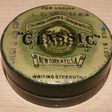 Cajas y cajitas metálicas: ANTIGUA CAJA METÁLICA PARA CINTA DE MÁQUINA DE ESCRIBIR. COLUMBIA RIBBON & CARBON MFG. CO. NEW YORK. Lote 56162713