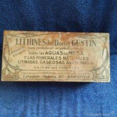Cajas y cajitas metálicas: CAJA METALICA LITHINES DEL DOCTOR GUSTIN DE FARMACIA DE NOVELDA ( ALICANTE ) PREPARADO DR. FARRERO.. Lote 56180249