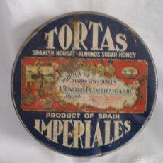 Cajas y cajitas metálicas: CAJA DE LATA TORTAS IMPERIALES. Lote 56398855