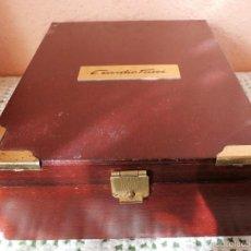 Cajas y cajitas metálicas: ANTIGUA CAJA DE MADERA DE EMIDIO TUCCI. Lote 56512944