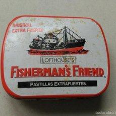 Cajas y cajitas metálicas: CAJITA METALICA FISHERMANS FRIEND PASTILLAS. Lote 56652848