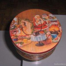 Cajas y cajitas metálicas: PRECIOSA CAJA DE PAPA NOEL . Lote 56665548