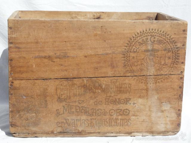 Antigua caja de madera aceite puro oliva g sen comprar cajas antiguas y cajitas met licas en - Cajas de madera barcelona ...
