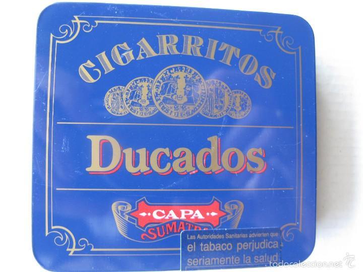 CAJITA METÁLICA DUCADOS CAPA SUMATRA. CAJA GRANDE. (Coleccionismo - Cajas y Cajitas Metálicas)