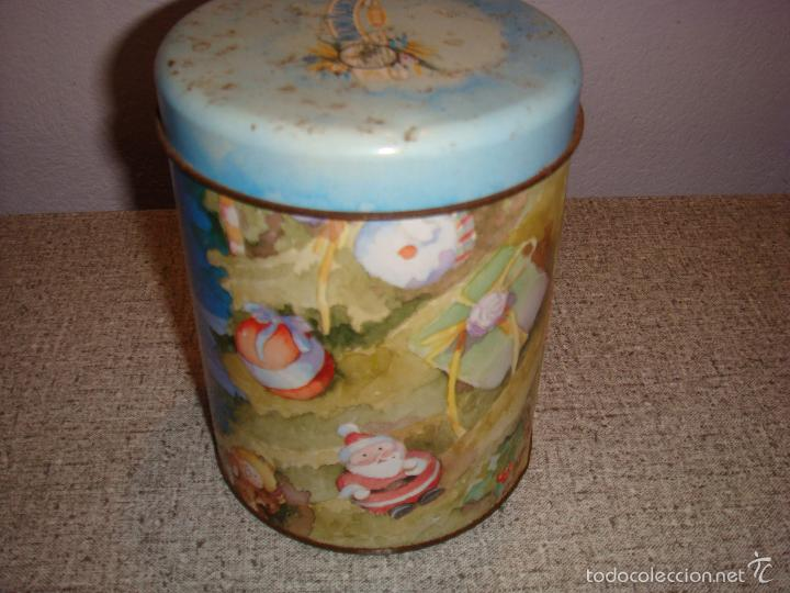 Caja lata de molino blanco con motivos navide o comprar - Cajas con motivos navidenos ...
