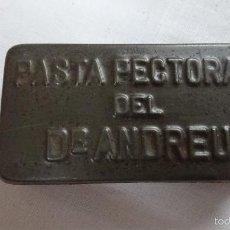 Cajas y cajitas metálicas: CAJA PASTA PECTORAL DR ANDREU, PARA COLECCIONISTAS. Lote 56883125