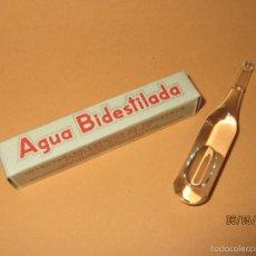 Cajas y cajitas metálicas: ANTIGUA CAJA DE AMPOLLA * AGUA BIDESTILADA * DE LABORATORIOS ENERGION VALENCIA - AÑO 1950.. Lote 56883410