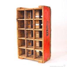 Cajas y cajitas metálicas: ANTIGUA CAJA DE MADERA PARA BOTELLAS DE VINO FRANCES. Lote 56946781