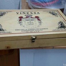 Cajas y cajitas metálicas: CAJA DE VINO. Lote 56960296