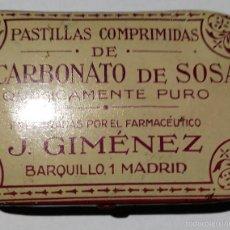 Cajas y cajitas metálicas: LATA BICARBONATO DE SOSA J GIMENEZ. Lote 57025315