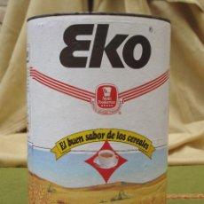 Cajas y cajitas metálicas: BOTE ANTIGUO GRANDE DE CEREALES : EKO - 900 G.. Lote 57123966