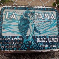 Cajas y cajitas metálicas: LATA MEMBRILLO LA FAMA PUENTE GENIL. Lote 57239352