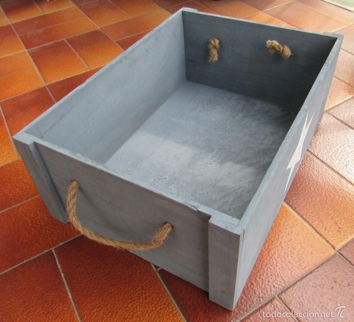 Cajon caja madera para decorar con estrella us comprar cajas antiguas y cajitas met licas en - Comprar cajas de madera para decorar ...