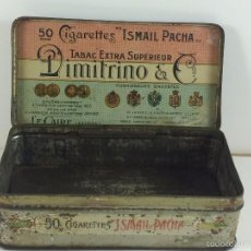 Cajas y cajitas metálicas: CAJA TABACO DIMITRINO & CO. EGIPTO EL CAIRO - MANUFACTURE DE CIGARETTES 1910. Lote 57360513