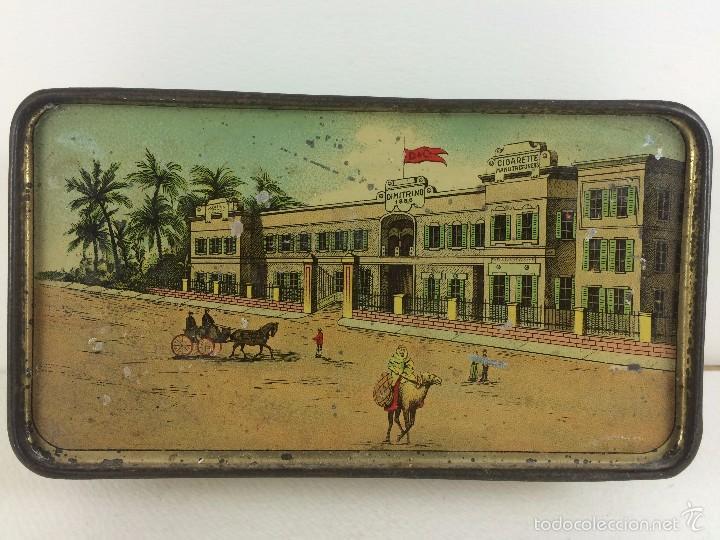 Cajas y cajitas metálicas: Caja tabaco Dimitrino & Co. Egipto El Cairo - Manufacture de Cigarettes 1910 - Foto 2 - 57360513