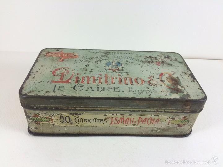 Cajas y cajitas metálicas: Caja tabaco Dimitrino & Co. Egipto El Cairo - Manufacture de Cigarettes 1910 - Foto 3 - 57360513