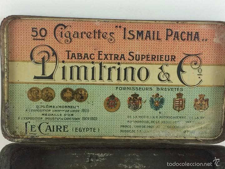 Cajas y cajitas metálicas: Caja tabaco Dimitrino & Co. Egipto El Cairo - Manufacture de Cigarettes 1910 - Foto 4 - 57360513