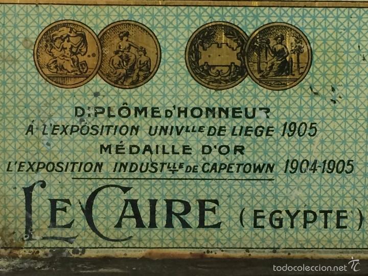 Cajas y cajitas metálicas: Caja tabaco Dimitrino & Co. Egipto El Cairo - Manufacture de Cigarettes 1910 - Foto 5 - 57360513